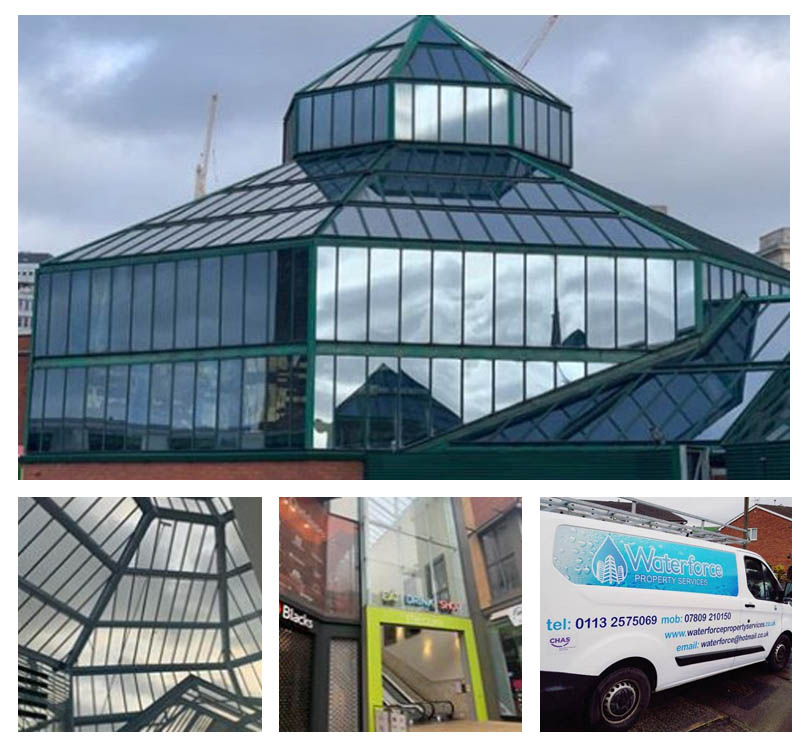 Commercial window cleaners serving West Yorkshire