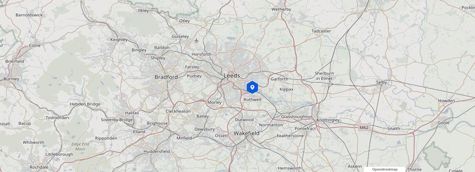 Leeds map - our location
